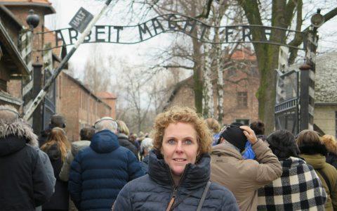 Auschwitz I - poort Arbeit macht frei